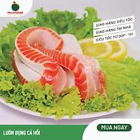 [Chỉ giao HN] - Lườn Bụng Cá Hồi Đông Lạnh - 1Kg 2 Khay - Size Nhỏ