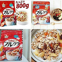 Thùng 6 gói ngũ cốc hoa quả Calbee Nhật Bản (800g x 6)