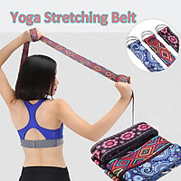 185X3.8cm Yoga Strap Cotton Gym Yoga Rope Pull Stretch Band Belt Women Fitness Exercise