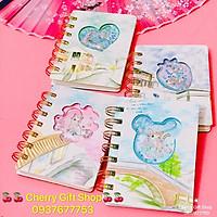 Sổ Tay Lò Xo Mini Kim Tuyến Siêu Cute Mèo Con