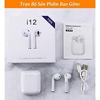 Tai Nghe Không Dây Bluetooth Lanith I12 TWS 5.0 - TAI00I12W , Tai Nghe Nhét Tai Airpods Thông Minh - Thiết Kế Thời Thượng, Hiện Đại - Kiểu Dáng Nhỏ Gọn, Âm Thanh Mềm Mượt