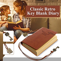 Vintage PU Leather Notebook Retro Journal Diary Blank Pages Classic Gift Notepad + 2 Bookmarks School Office Stationery Supplies