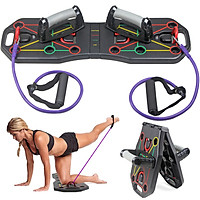 Multi-Function Foldable Push Up Board System with Resistance Tube Bands Pull Rope Bodybuilding Exercise Workout Push-up