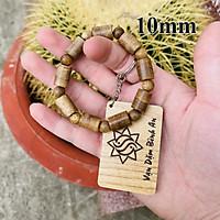 Vòng tay trầm hương phong thủy trụ trúc 9 trụ 9 tròn nam nữ Sơn Mộc Hương từ trầm tốc tự nhiên mang lại may mắn và thành công