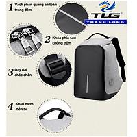 Balo đa năng chống trộm, chống nước laptop kèm cổng sạc USB Đồ Da Thành Long TLG 200 2(xám) tặng móc khóa da K 550