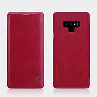 Bao Da Da Bò Cho Samsung Galaxy Note 9 hiệu Nillkin Qin Có Ngăn Đựng Thẻ - Hàng Chính Hãng