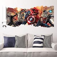 Tranh decal dán tường 3D Siêu anh hùng AmyShop (50 x 90 cm)