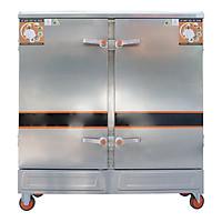 Tủ Nấu Cơm 24 Khay Điện Gas Inox 201