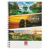 Sổ Lò Xo Notebook, Cool A4 (200 Trang) - 4145 - Mẫu 3 - Vietnam Exploring - Ha Long - Quang Ninh