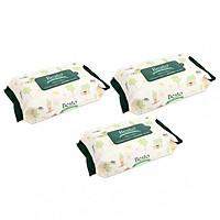 Combo 03 gói khăn ướt Best 100 tờ (nắp dán tiện dụng) - Nhập khẩu Hàn Quốc