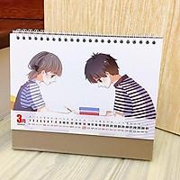 Lịch anime chibi 2020 Con tim rung động để bàn tặng ảnh thiết kế Vcone