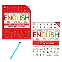 Combo Tiếng Anh Cho Mọi Người Level 1 Beginner: English For Everyone Practice Book và English For Everyone Course Book ( Tặng Kèm Bút )