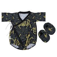Bộ Bodysuit Yukata Hình Rồng Mihababy - YU_RONG