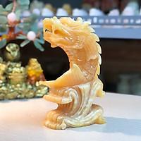 Cá Chép Hóa Rồng đá Ngọc Hoàng Long(Cặp) - Roxi