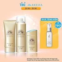 Bộ sản phẩm Kem chống nắng Anessa bảo vệ hoàn hảo cho da mặt và toàn thân (Gold Milk 60ml + Gold Gel 90g + Gold Spray 60g)