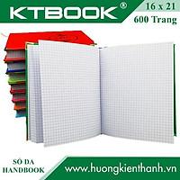 SỔ GHI CHÉP BÌA DA HANDBOOK CAO CẤP 600 trang size A5 ruột giấy in caro