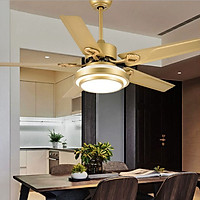 Đèn quạt trang trí phòng khách phong cách hiện đại - kèm điều hiển từ xa tiện lợi