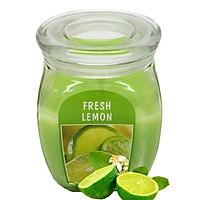 Hũ nến thơm tinh dầu Bolsius Fresh Lemon 305g QT024371 - hương chanh tươi
