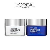 Bộ Kem Dưỡng Da Ngày Và Đêm L'Oreal Paris White Perfect Clinical 50ml