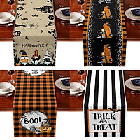 Cotton And Linen Halloween Table Runner Household Party Decoration Tableware