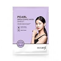 Mặt Nạ Giấy Ngọc Trai -  Pearl Brightening Mask Sheet Mulbit MB013 (23 g)