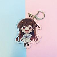 ( Mica trong acrylic) Móc khóa Kanojo, Okarishimasu Dịch vụ thuê bạn gái ver cute in hình anime chibi