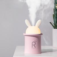 Máy phun sương Jisulife JT03 - Tạo ẩm không khí và giữ ẩm da 280ml - Thiết kế hình thỏ đáng yêu và tự động tắt khi hết nước - Máy tạo ẩm không gian thư giãn kiêm đèn ngủ LED để bàn tiện lợi - Hàng chính hãng
