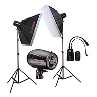 Bộ Kit Studio 2 Đèn Flash DII250 JINBEI - Hàng Chính Hãng