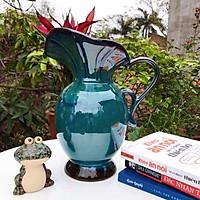 Bình hoa gốm sứ - Bình sữa Miệng Lá - Men hoả biến - Gốm sứ Bát Tràng - Trang trí căn nhà