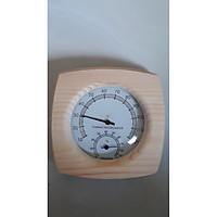 Đồng hồ đo nhiệt và độ ẩm trong nhà bằng gỗ thông