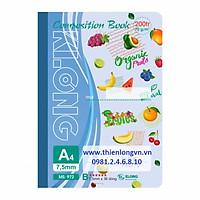 Sổ may dán gáy A4 - 200 trang; Klong 972 xanh biển