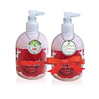 Combo 2 chai nước rửa tay thiên nhiên Lamcosmé (500ml) + Tặng Gel rửa tay khô
