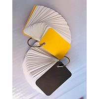 combo 1 tập Flashcard trắng thẻ học từ vựng tiếng anh nhật hàn trung cao cấp | Bộ thẻ học tiếng nước (100 FLASHCARD TRẮNG ĐỤC BO GÓC) tặng kèm khoen