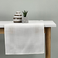 Khăn Trải Bàn JYSK Lyesiv Polyester Sọc Vuông (40 x 150 cm) - Tự Nhiên