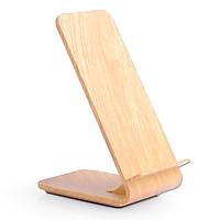 Sạc không dây kiêm giá đỡ vỏ gỗ A8 cho Iphone Samsung Sony