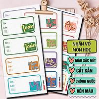 Sticker Nhãn Vở Môn Học Tiện lợi cho Cấp 1, Cấp 2, Cấp 3 chống nước - Tặng sticker Cung Hoàng Đạo