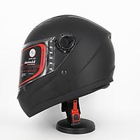 Mũ Bảo Hiểm Fullface SRT Đen nhám kính trà chống bụi, chống chói