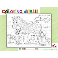 Xếp hình Tia Sáng  Ngựa vằn  (30 Mảnh Ghép) - Tặng kèm tranh tô màu cho bé
