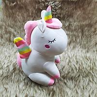 Thú nhồi bông kỳ lân unicorn size 40cm màu trắng