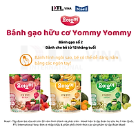 Combo 3 Bịch Bánh Gạo Ăn Dặm Yummy Yummy Cho Bé 12m Nhập Khẩu Hàn Quốc(3 vị)