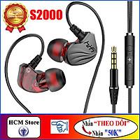 Tai Nghe Siêu Bass BONKS-S2000 Âm Thanh HiFi dải tần âm thanh rộng cho chất lượng trung thực - Hàng Chính Hãng