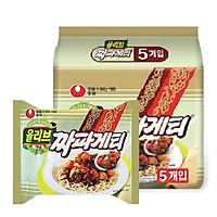 Lốc 5 gói Mì tương đen Hàn Quốc Chapaghetti Nongshim 140g