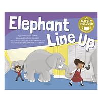 Elephants Line Up