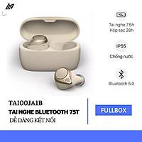 Tai Nghe Bluetooth LANITH Elite 75T - Tai nghe Không Dây Nhét Tai Thông Minh - Thiết Kế Nhỏ Gọn, Chống Nước, Chống Ồn Hiệu Quả - Âm Thanh Chất Lượng Cao, Âm Trầm Mạnh Mẽ - Hàng Nhập Khẩu - TAI00JA1