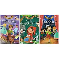 Cổ tích Vàng Thế Giới Tuyển Tập Đặc Biệt 3 Cuốn Ngày Xửa Ngày Xưa : Peter Pan + Cô Bé Quàng Khăn Đỏ + Pinocchio ( Tặng Kèm Bookmark Greenlife )