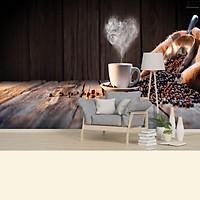 Tranh dán tường 3D hương vị cafe TC46