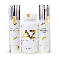 Bộ dưỡng trắng da siêu tiết kiệm AZ White tặng Kem chống nắng AZ SPF 50 - PA+++
