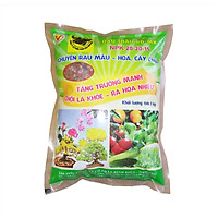 Phân bón cho hoa kiểng- rau màu - cây ăn trái NPK 20-20-15 (3 màu, gói 1kg) - Đầu Trâu