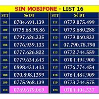 SIM SỐ ĐẸP MOBIFONE - LIST 16 (MBFDS16) - Số dễ nhớ, thần tài, lộc phát, số cặp - SIM MỚI, ĐĂNG KÝ ĐÚNG CHỦ ONLINE - Hàng chính hãng