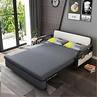 Ghế Giường Sofa 1.5*1.9m đệm bọt biển có ngăn chưa đồ, Ghế giường sofa 2 trong 1 cao cấp hiện đại